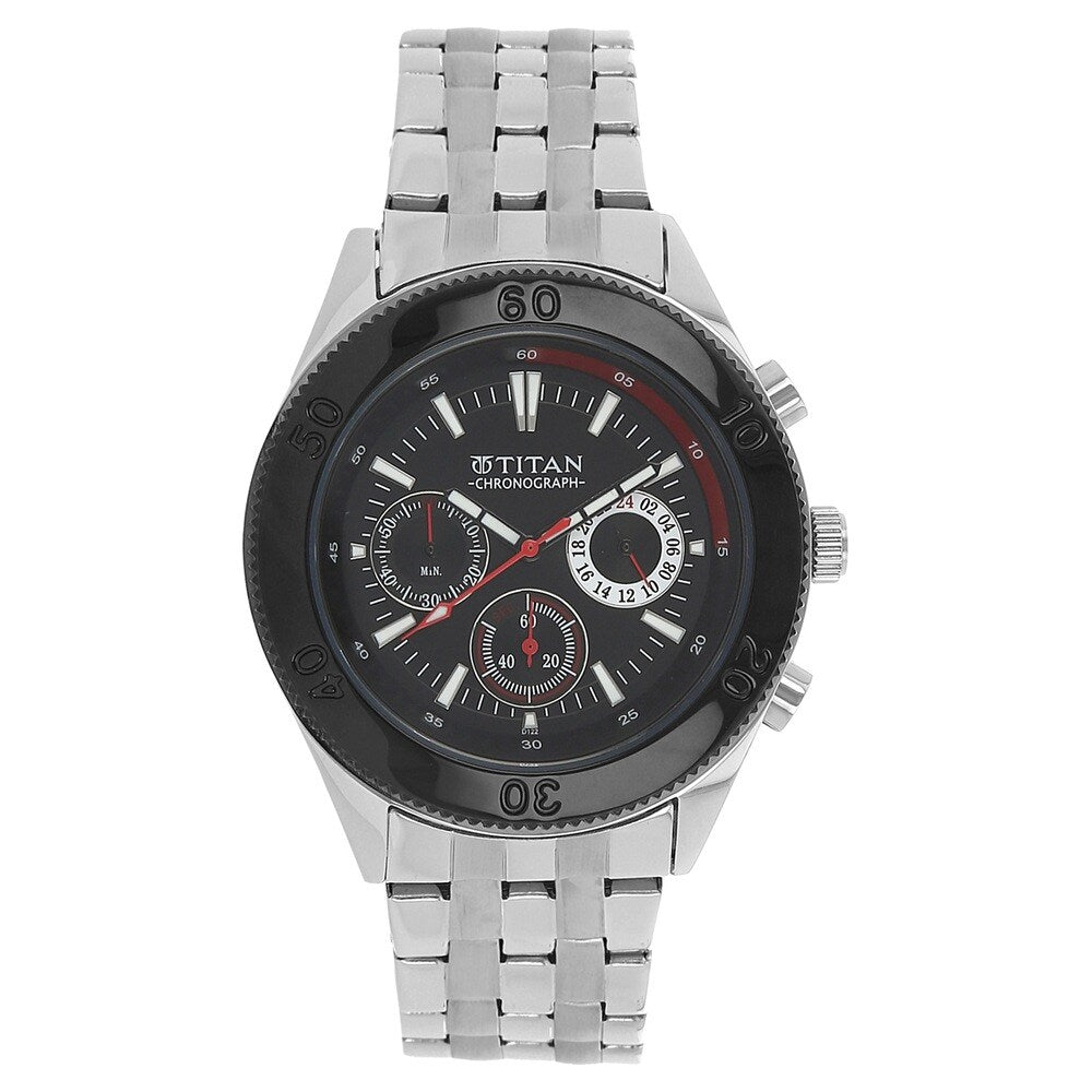 Titan Octane Chronograph Black Dial Men's Watch - NK9324KM01M