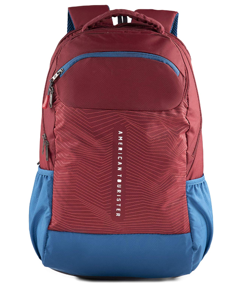 American Tourister Jazz Nxt 02 Red Blue Casual Backpack