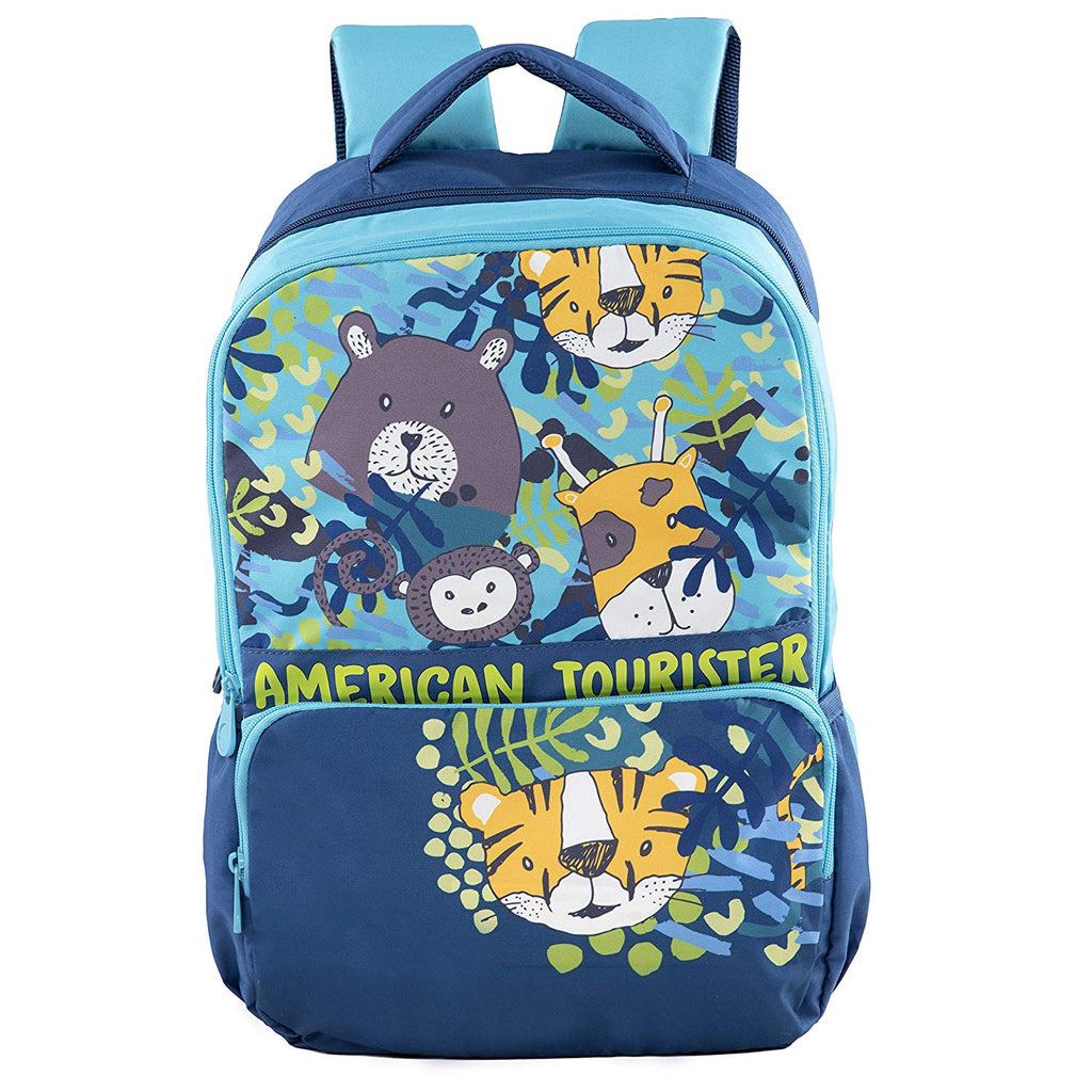 American Tourister Men's and Women's Polyester Tiddle Nxt 03 Casual Backpack Blue