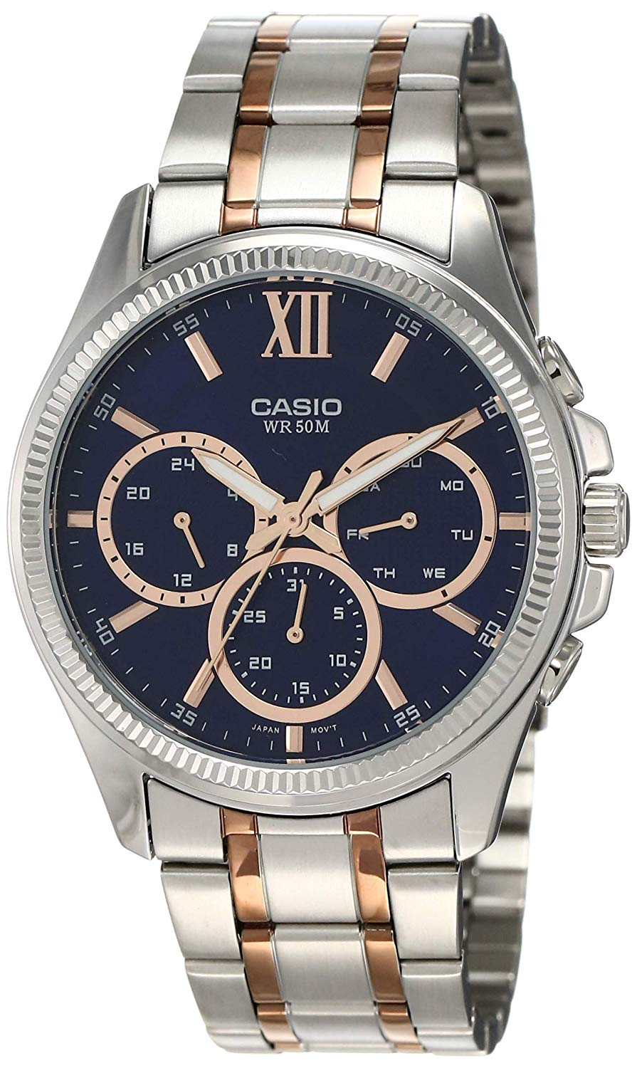 Casio Enticer Men MTP-E315RG-2AVDF (A1359) Multi Dial Men's Watch