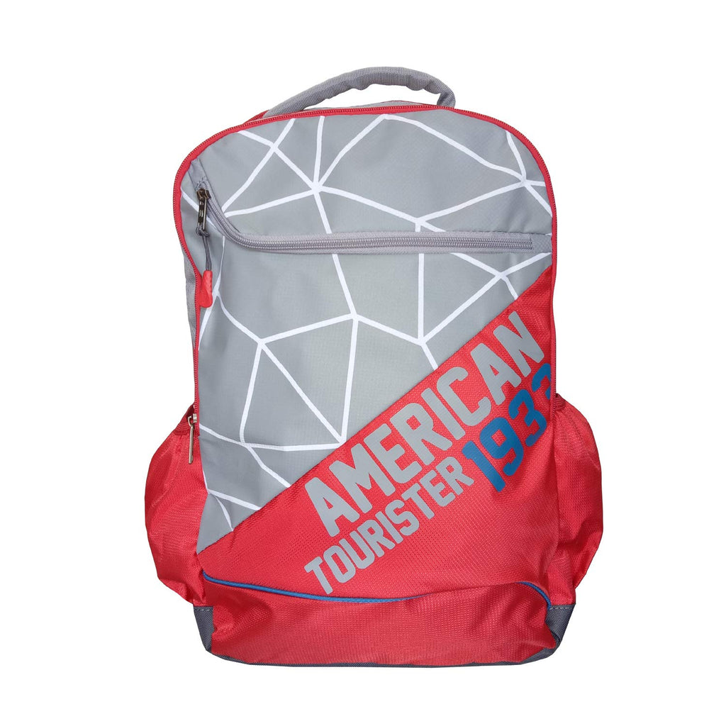 American Tourister Jazz Nxt 01 Red Grey Casual Backpack