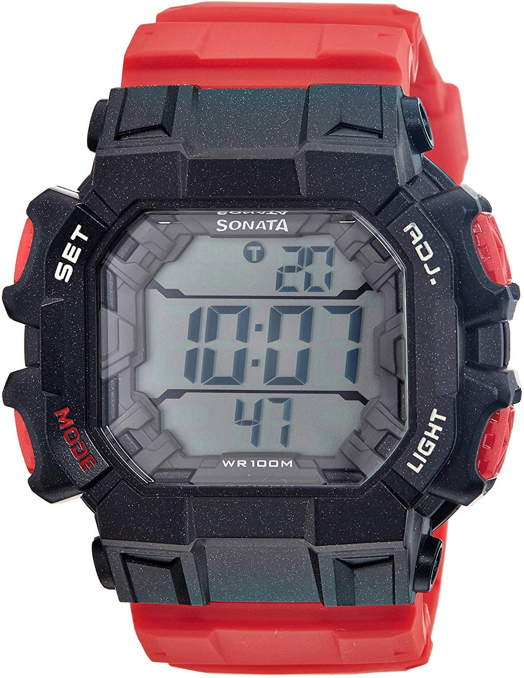 Sonata Ocean Series III Digital Multi-Color Dial Men's Watch - 77025PP02J