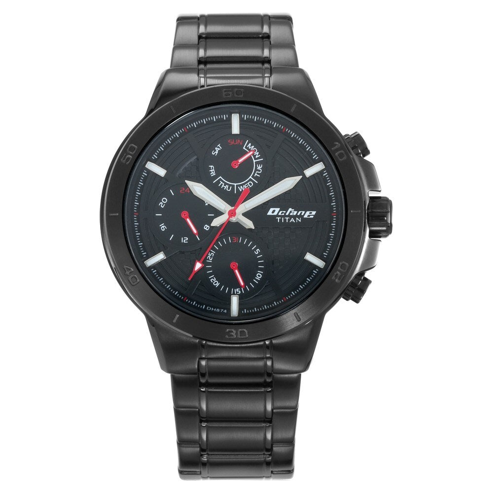 Titan Octane All Metal Analog Black Dial Men's Watch - 90091NM01