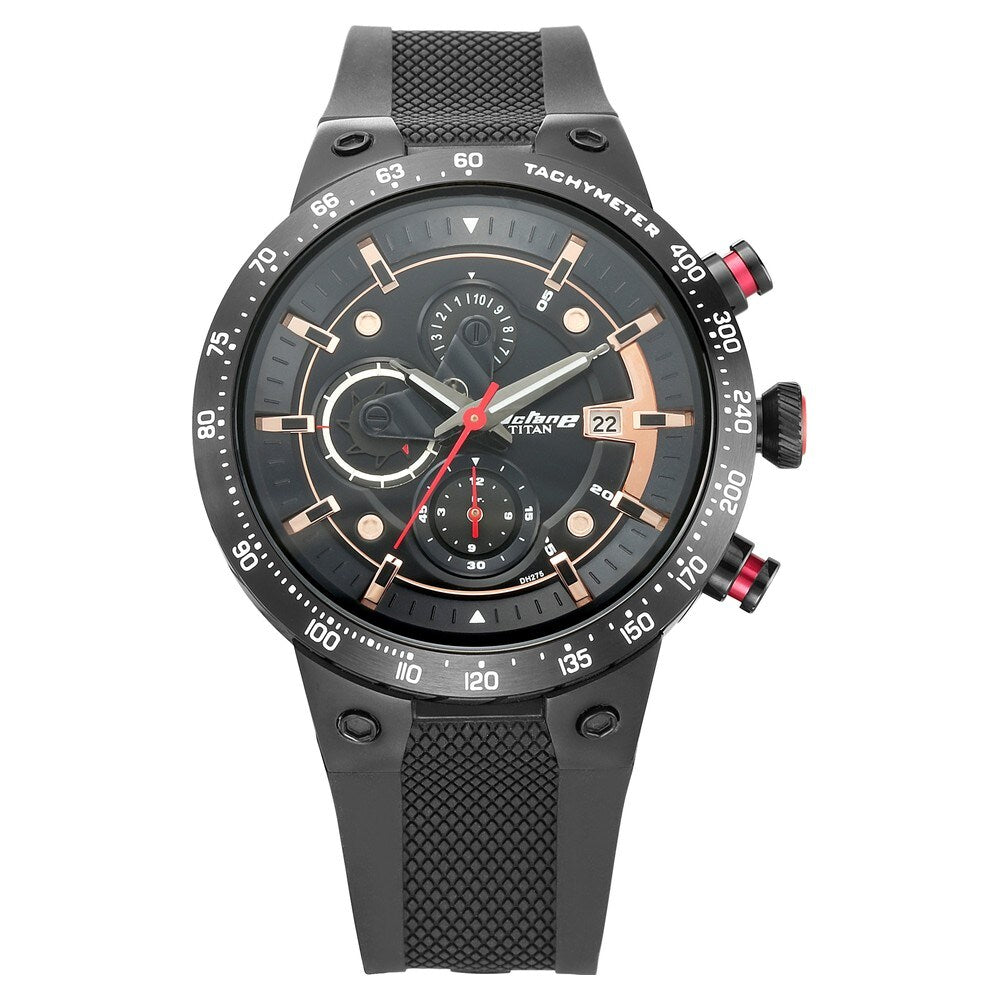 Titan Octane Signature Analog Black Dial Men's Watch - 1761KP02