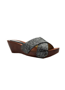 Indian Trednz Square Women's Fashion Slippers (Black)