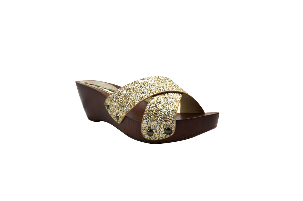 Indian Trednz Square Women's Fashion Slippers (Gold)