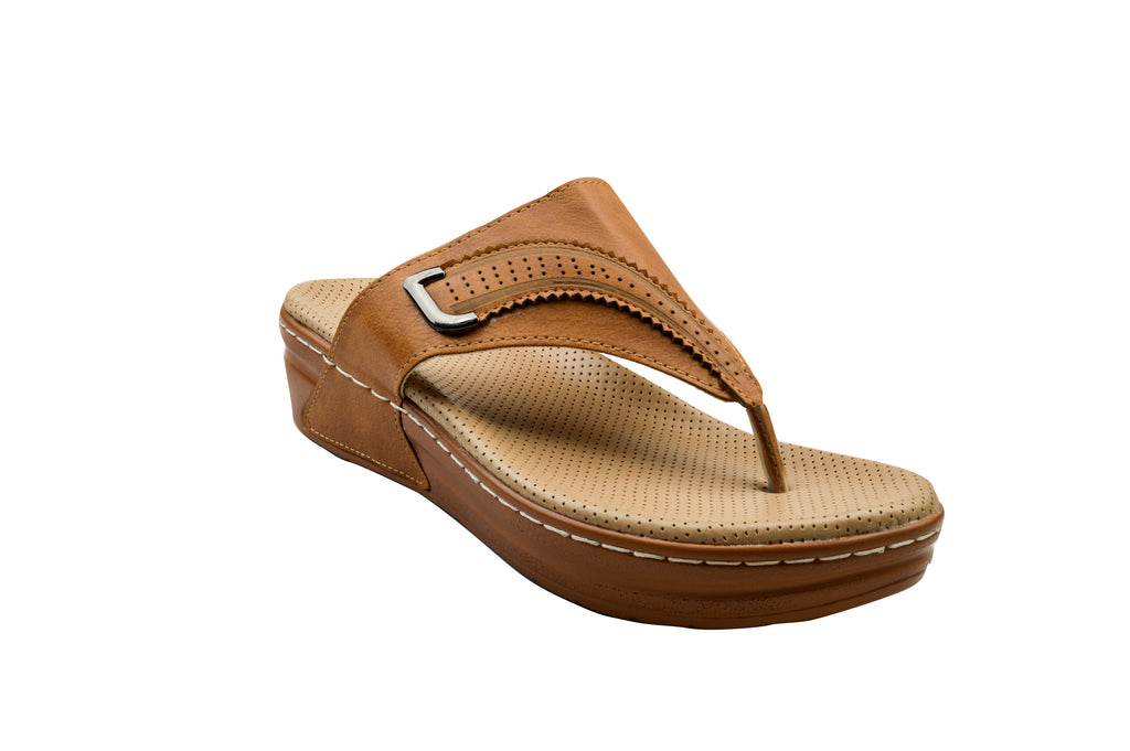 Indian Trednz Square Women's Fashion Slippers (Camel)