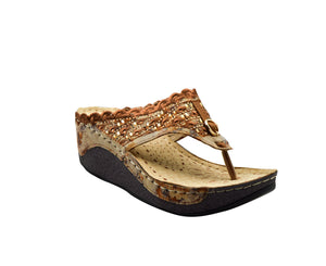Indian Trednz Square Women's Fashion Slippers (Brown)