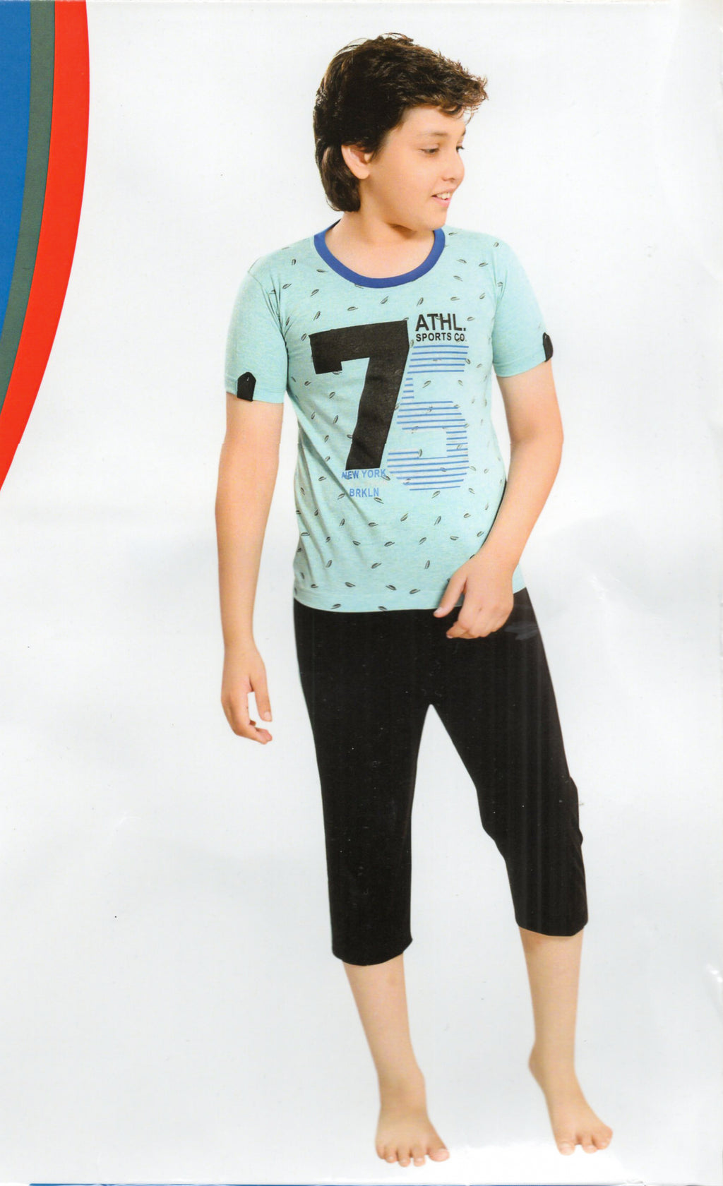 J-Boy Cotton Night Suit  for Boys  (Sky Blue)