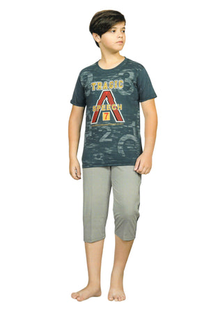 J-Boy Cotton Night Suit  for Boys  (Ramagreen)