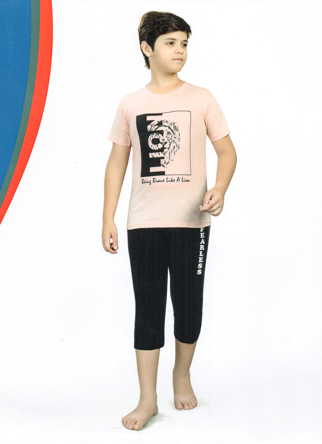 J-Boy Cotton Night Suit  for Boys  (Pink)