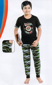 J-Boy Cotton Night Suit  for Boys  (Black)