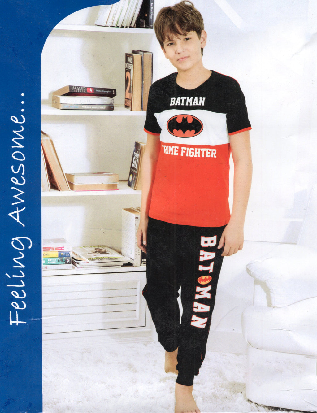 Any Wear Boy's  Cotton Night Suit  for Boys (Red)
