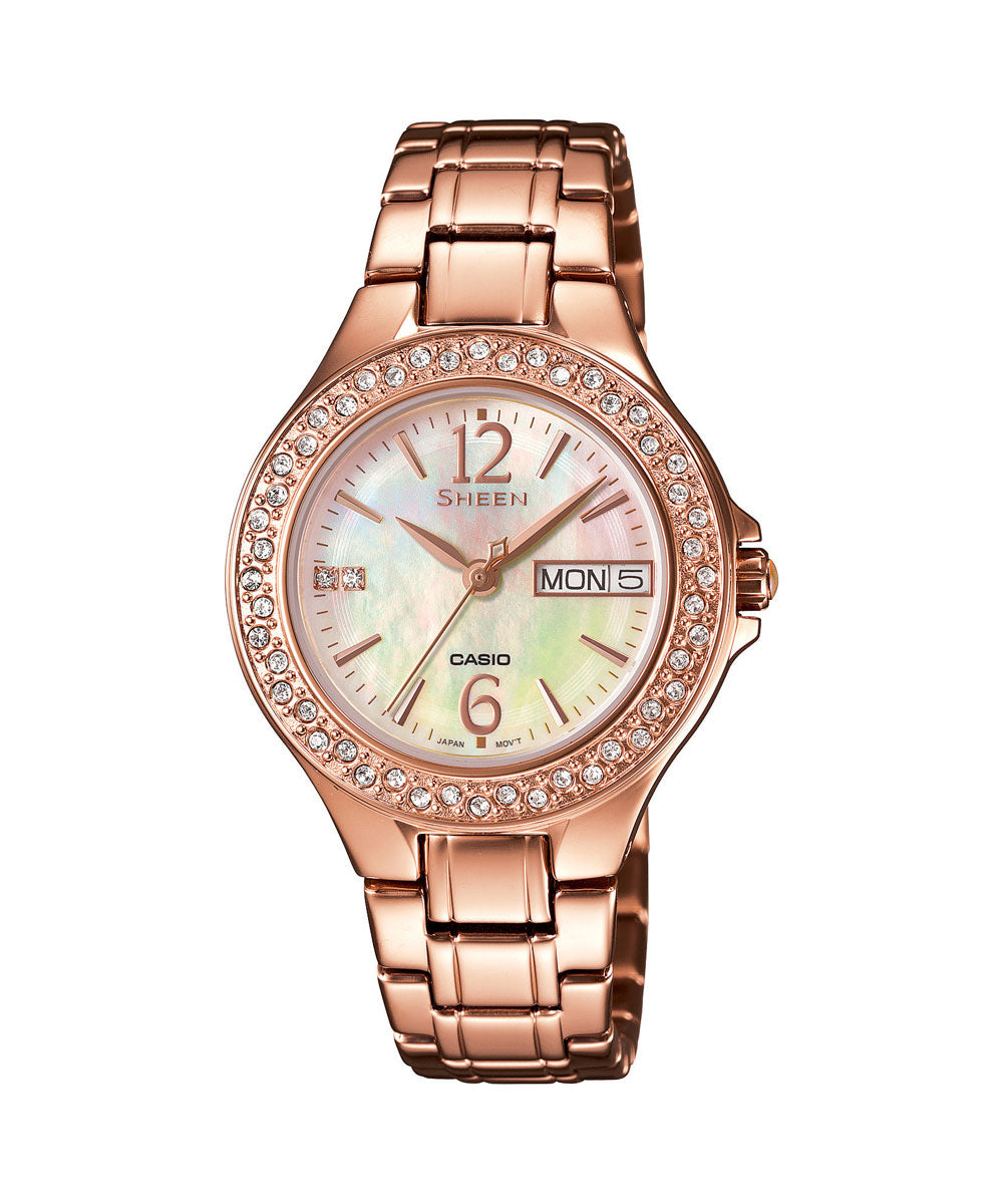 Casio Sheen SHE-4800PG-9AUDR (SX099) Rose Gold Women's Watch