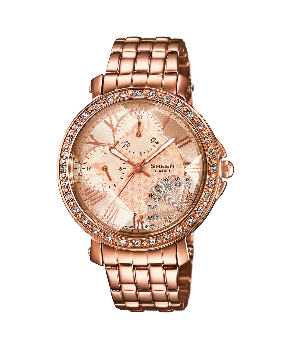 Casio Sheen SHN-3011PG-9ADR (SX143) Rose Gold Women's Watch