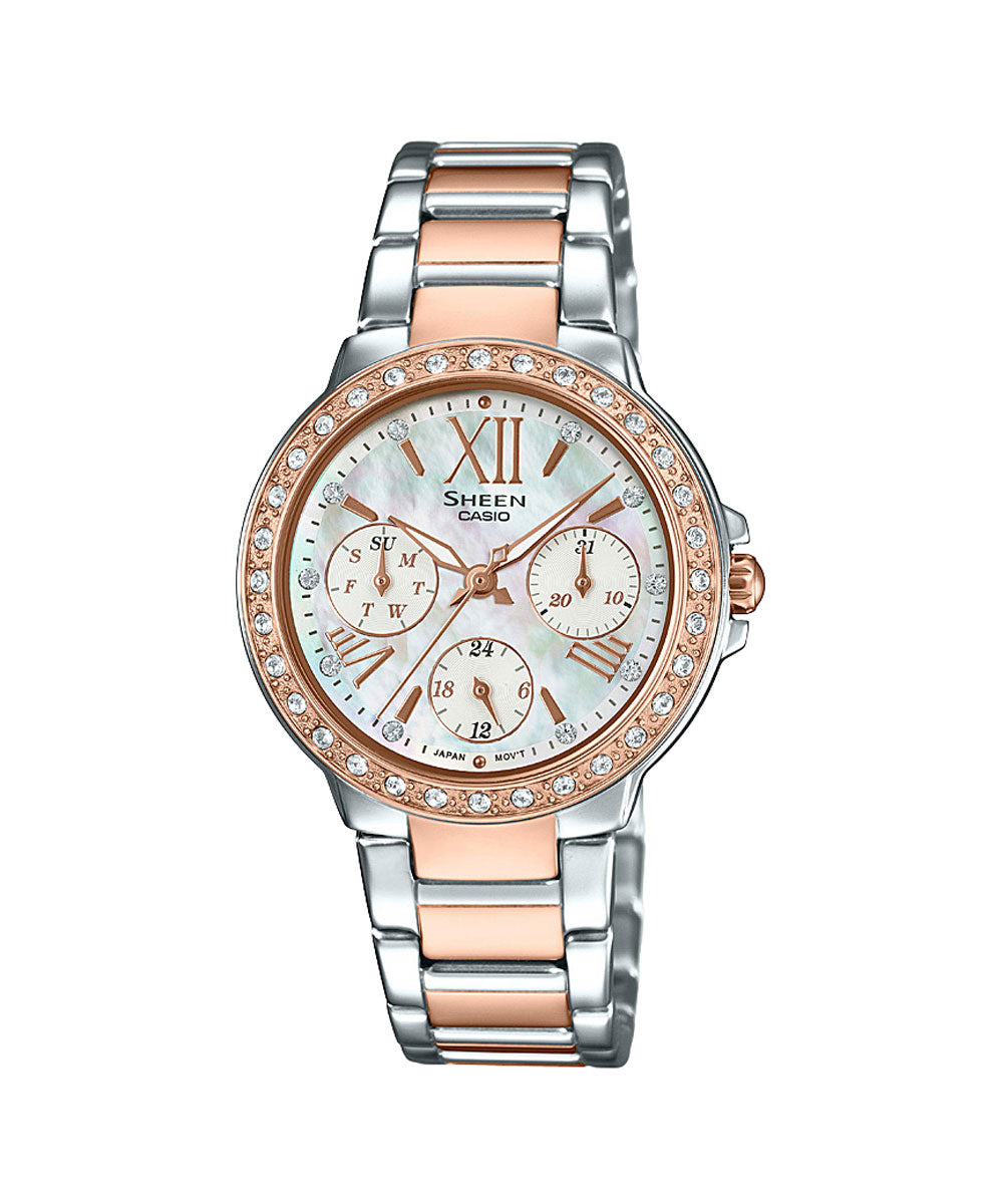 Casio Sheen SHE-3052SPG-7AUDR (SX189) Rose Gold Women's Watch