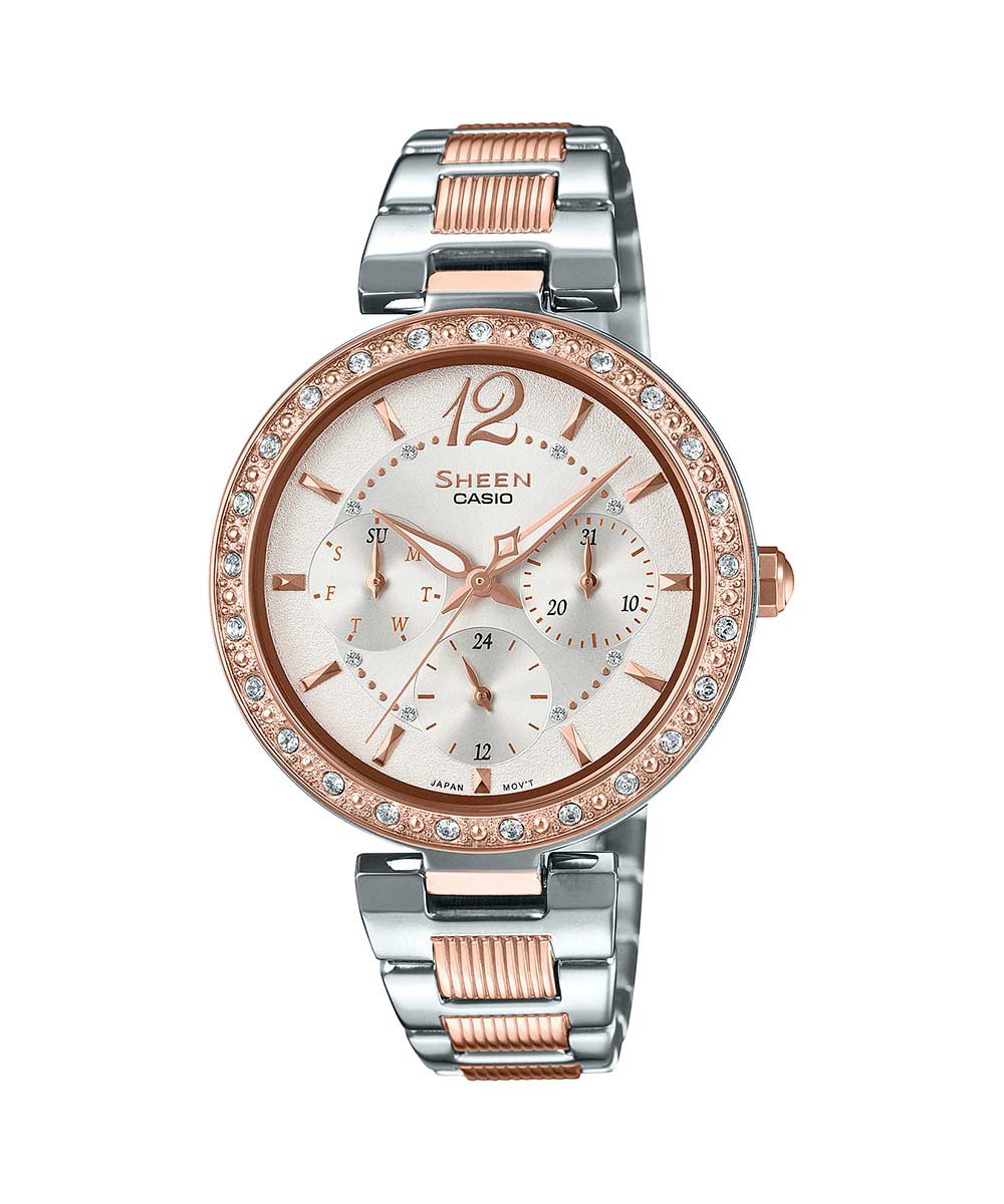 Casio Sheen SHE-3065SPG-7AUDF (SX235) Rose Gold Women's Watch