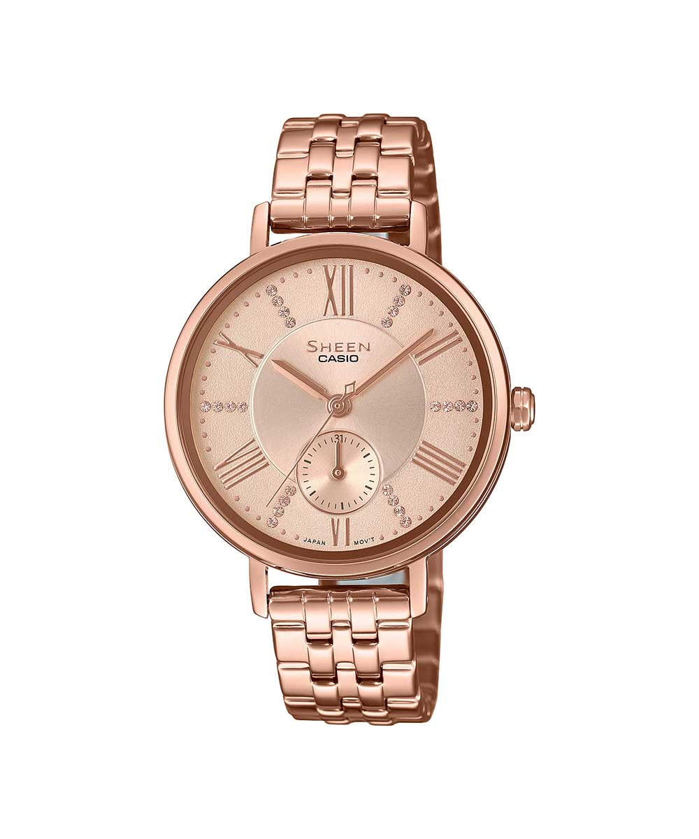 Casio Sheen SHE-3066PG-4AUDF (SX238) Rose Gold Women's Watch
