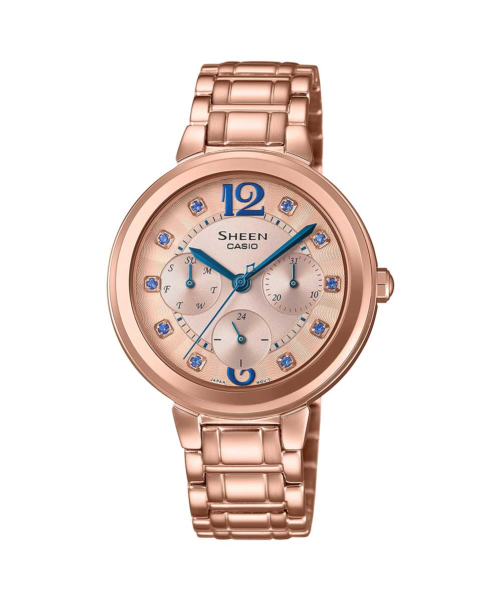 Casio Sheen SHE-3048PG-7BUDR (SX250) Rose Gold Women's Watch