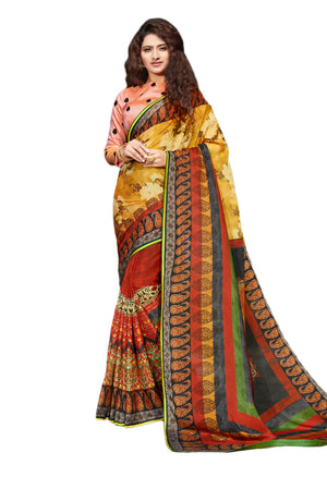 Sanskar's Jogan Printed Silk Saree (Multicolor) By Indians Boutique