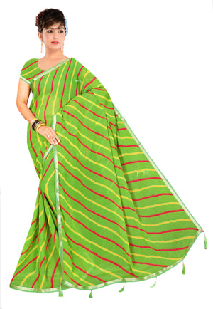 Swagat  Designer Printed Georgette Saree With Blouse Piece
