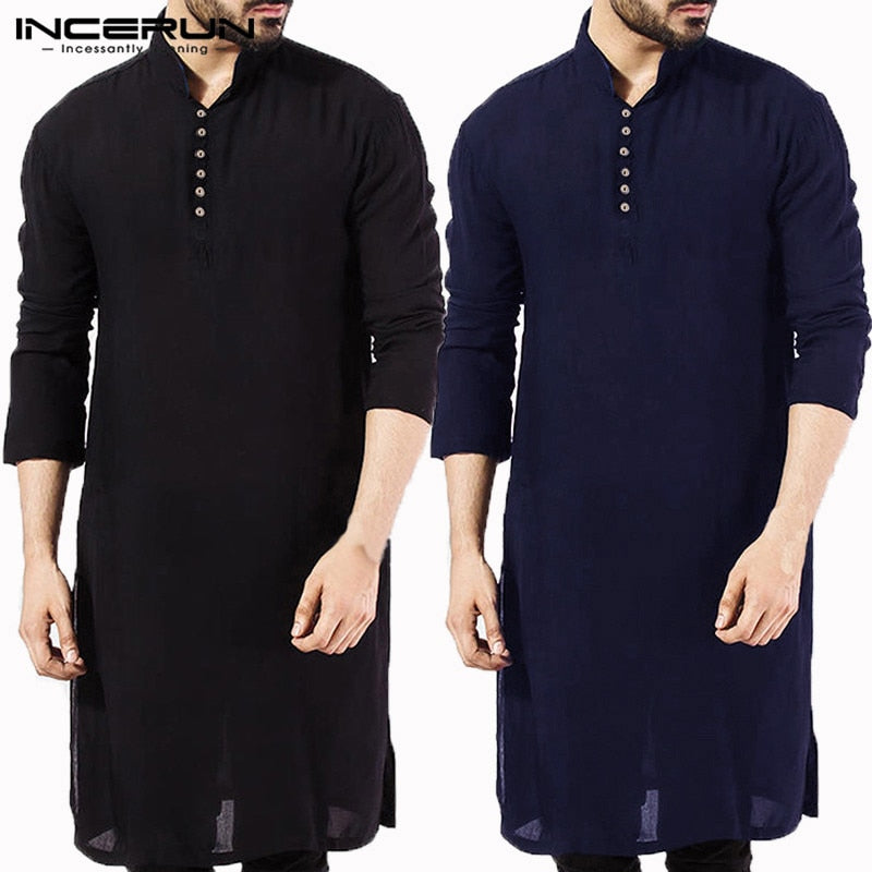 Casual Men Solid Stitched Kurta