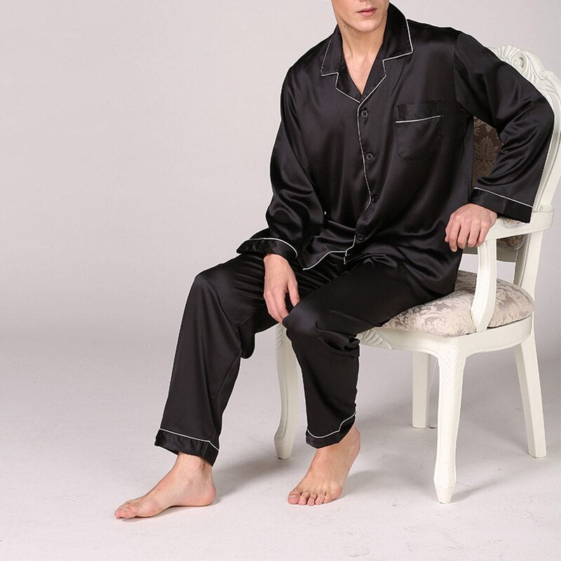 Classic Mens Comfortable Pyjamas Set