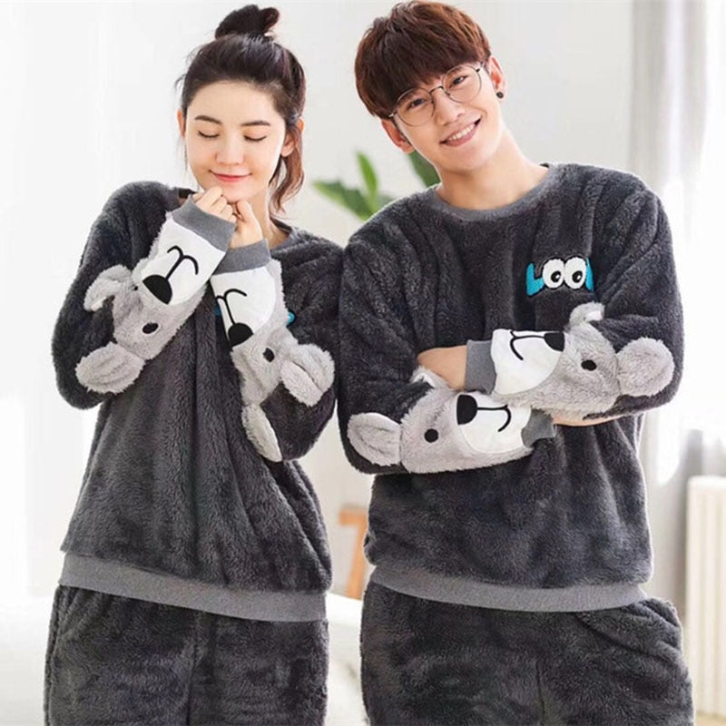 Cute Animal Pattern Couples Pajama Set