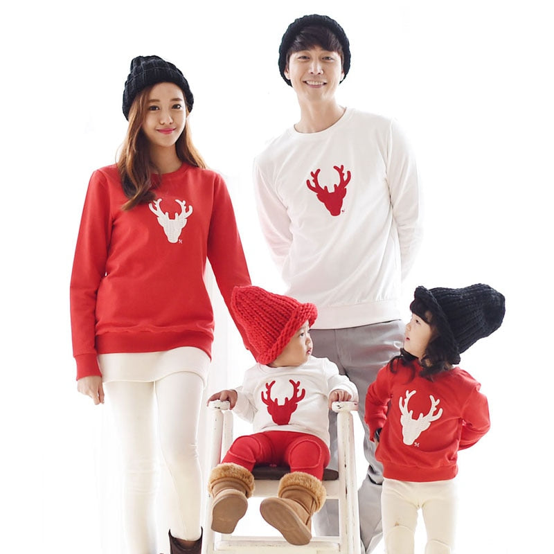 Cotton Christmas Deer Family Set