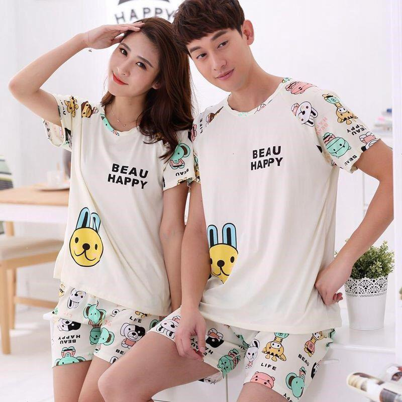 Men Women Lovers Summer Pajama Sets