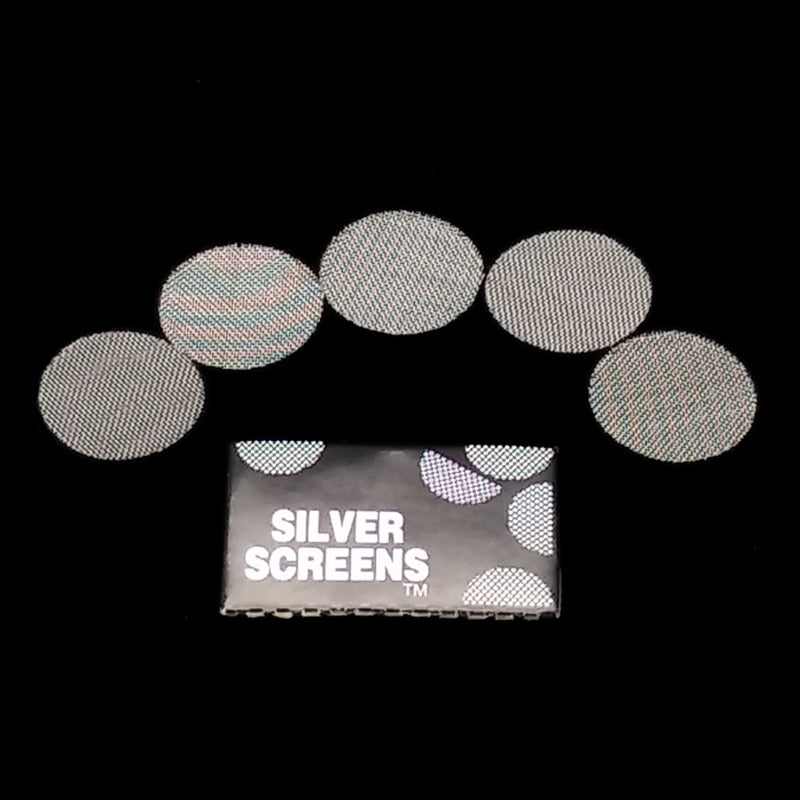 100pcs Silver Pipe Screens