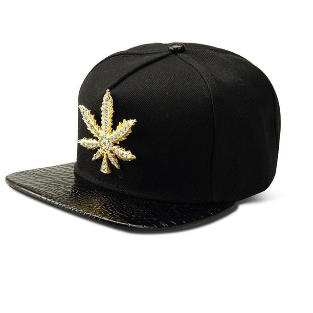 Golden Weed Baseball Caps