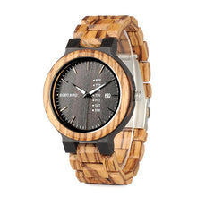 BIRD Zebrawood Two-Tone Wristwatch.