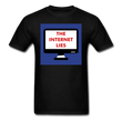 INTERNET LIES TEE - black