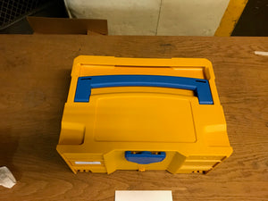 Systainer T-Loc II, Yellow with Blue Handle and T-Loc, Like New