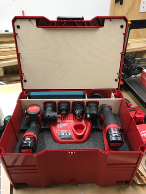 Milwaukee M12 Installation Driver Head Holder Set v1 (3D Printed)
