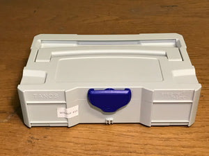 Mini T-Loc I, sort tray insert, Light grey with blue latch, Like New