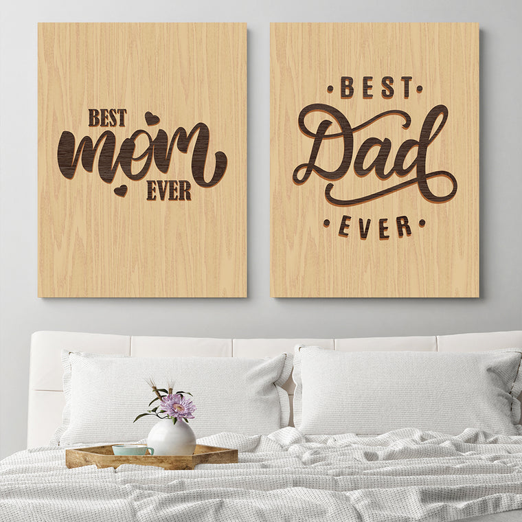 His & Her - Best Mom & Dad