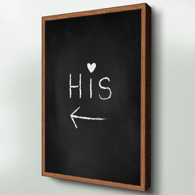 His & Her - Chalkboard
