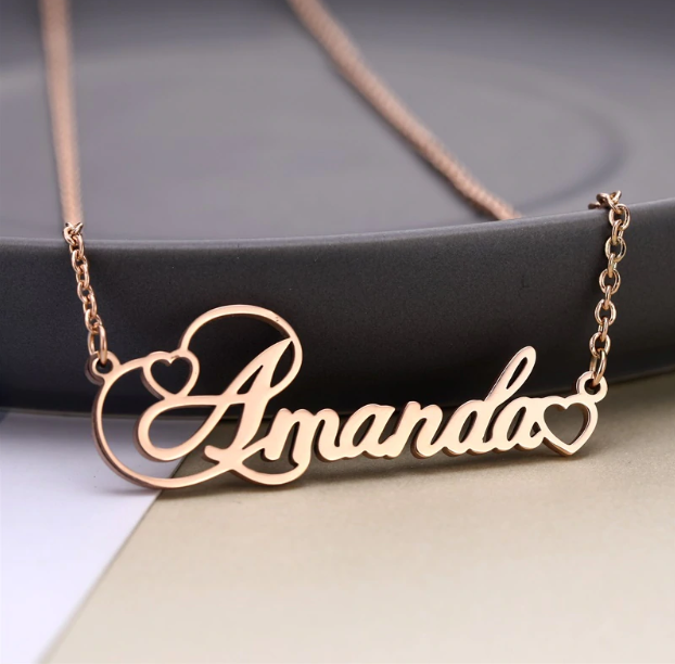 Di'Lemossi™ Personalized Heart Name Necklace