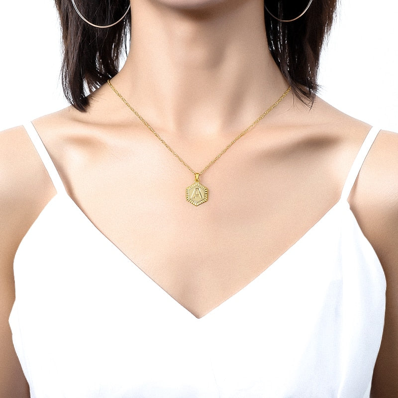 Lemossi Initial Necklace