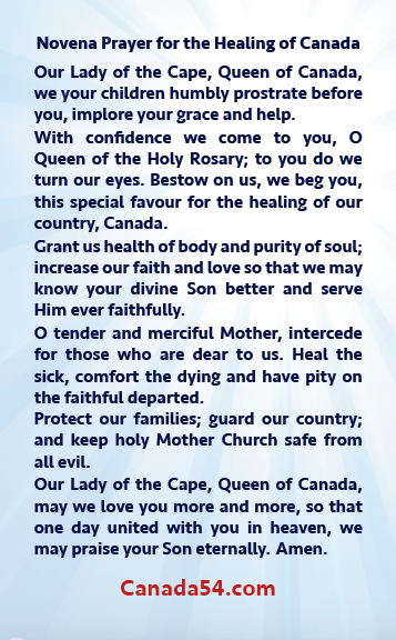 Canada54 Prayer Card