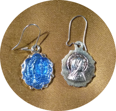 Our Lady of the Lourdes Earrings