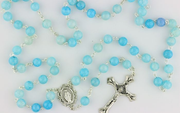Aqua Blue Rosary - Three Only!