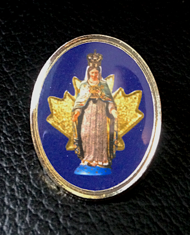 Our Lady of the Cape, Queen of Canada Lapel Pin