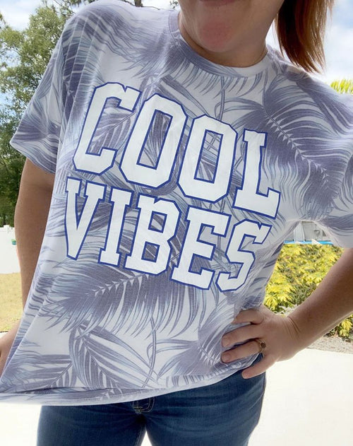 Cool Vibes Palm Leaf Graphic Tee