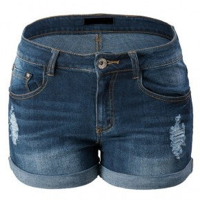 Dark Wash Stretchy Denim Shorts