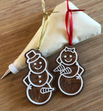 Naughty Snow Couples Ornament Set