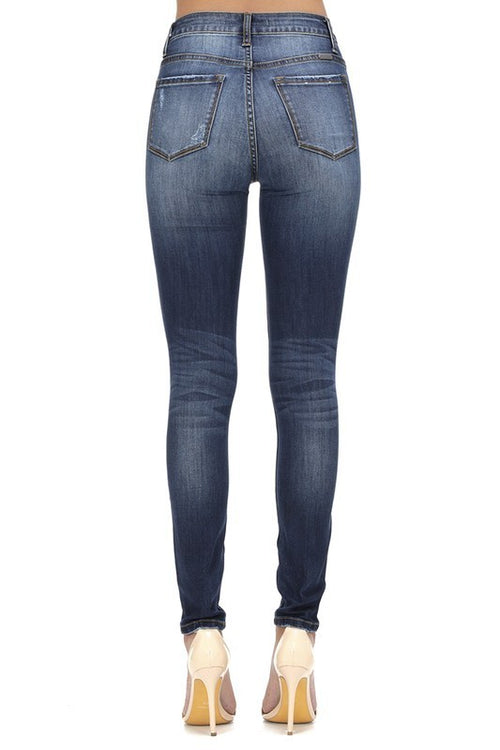 KanCan High Rise 5 Button Skinny Jeans
