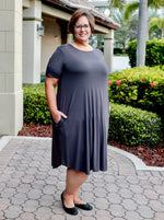 Naughty List Charcoal Swing Dress